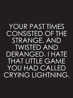 Arctic Monkeys - Crying Lightning quote.