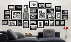 48 Amazing Gallery Frame Wall Design Ideas For Family Photos To Try Asap Frame Wall Collage, Gallery Wall Frames, Photo Wall Collage, Frames On Wall, Picture Wall, Picture Collages, Photo Wall Decor, Room Wall Decor, Family Photo Frames