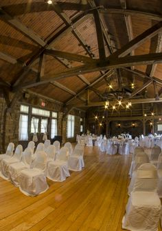 Small ceremony and reception in Allison Peabody located in Brown County state Park