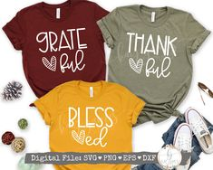 Teacher Shirts, Mom Shirts, Cute Shirts, Thanksgiving Tshirts, Thanksgiving Turkey, Happy Thanksgiving, Thankful And Blessed, Grateful, Blessed Shirt