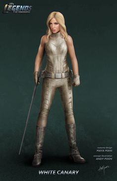 Andy Poon has released concept art from his work on The Flash and Legends of Tomorrow. Check out his designs for Geomancer, Jay Garrick, Doctor Light and White Canary. White Canary Dc, Arrow Black Canary, Legends Of Tommorow, Dc Legends Of Tomorrow, Mick Rory, Dc Tv Shows, Super Hero Costumes, Geek Girls, Dc Heroes