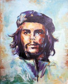 che guevara Che Guevara - Acryl auf Leinwand 80 x 100 cm Robert Doisneau, Cuba, Che Guevara T Shirt, Pop Art Bilder, Phone Wallpaper For Men, Ernesto Che, Foto Poster, Famous Pictures, Freedom Fighters