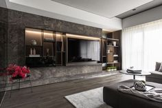 Living room same to same Tv Cabinet Design, Tv Unit Design, Tv Wall Design, Living Room With Fireplace, Living Room Decor, Tv Moderna, Ulsan, Grey Room, Scandinavian Interior Design