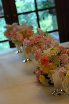 シェ松尾松濤レストラン様の装花 冬と春
