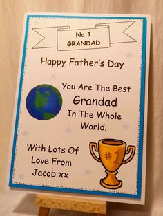 Best In The Whole World Father's Day Handcrafted card from www.facebook.com/thehandmadestudio Any personalisation and only £1.90 plus p&p #Handmade #personalised #card #fathersday #dad #daddy #grandad #thehandmadestudio #CCC #fabulousfbpages #hltmp #CraftersCavern #hmuk #networking #craft #crafting #cardmaking #handcrafted