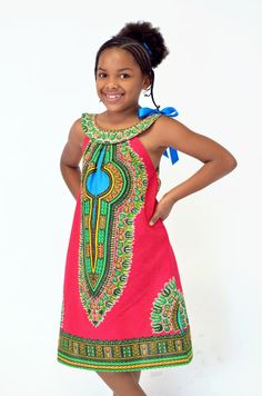 Little Dashiki dress for tweens. I made this for my 2 year old, the circle top would be amazing on tweens. $25 adorablyafrican.com/bespoke
