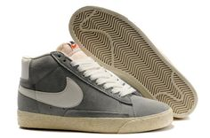 huge selection of eea8f 34c99 Nike Trainers Classic Blazer Vintage Wolf Grey Suede Mens Shoes Grey And  White