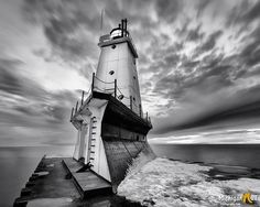 """""""Guardian of the Lake""""   Ludington North Breakwater Lighthouse. March 20, 2017.  Thanks for sharing Michigan Nut Photography."""