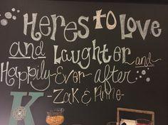 Here's to love chalkboard