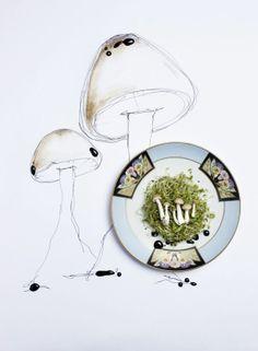 細緻優雅的水彩插畫襯上食物攝影   ㄇㄞˋ點子靈感創意誌