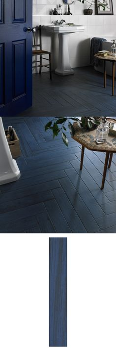 For a designer finish to your floor spaces, try these Indigo Blue Wood Effect Tiles. A deep blue tone, these porcelain planks are alive with wood grain. Interior Decorating Tips, Interior Styling, River Pebbles, Wood Effect Tiles, Underfloor Heating, Blue Tiles, Blue Wood, Herringbone Pattern, Minimalist Style