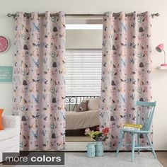 Shop for Aurora Home Alphabet Room Darkening Blackout Grommet Curtain Panel Pair. Get free delivery at Overstock.com - Your Online Home Decor Outlet Store! Get 5% in rewards with Club O!