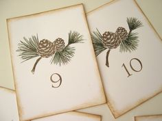 Rustic Wedding Table Numbers by CharonelDesigns on Etsy, $27.50