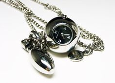 Bowling Ball & Pin Pendant and Chain Watch by thejewelseeker