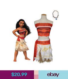Costumes Lovely Girls Kids Moana Sleeveless Party Holiday Birthday Dress B4 Clothing, Shoes & Accessories