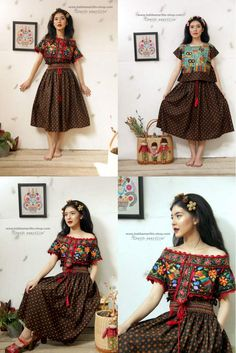 Available at Batik Amarillis webstore http://batikamarillis-shop.com Started on June 16 Batik Amarillis's Traveller smocked skirt It's gorgeous skirt with classic and classy smocking , a rare style which is not very common these days!