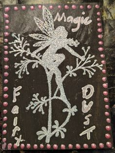 My first ever ATC, made November 2016 Flowery Fairy 1 of 3