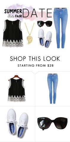 """Going to the State Fair"" by neverstopscreating ❤ liked on Polyvore featuring Paige Denim, Keds, Chanel, Sonal Bhaskaran, statefair and summerdate"
