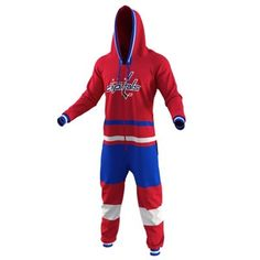 c228a7a6534 Washington Capitals Red Hockey Jersey Pajamas