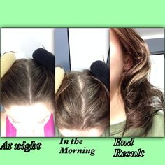 """Miss: I will try this again, however I will use smaller """"sock bun"""" round . If you hair is a little longer or you are just looking for body it works well. At night with dry hair place some gel or curl product in your hair, Split your hair into two sections, pull one section up like you are going to put it into a ponytail and place the ponytail through the round so the round is resting in your head. Then wrap your hair  around and pin to secure . Repeat with the other half of your hair. Sleep…"""