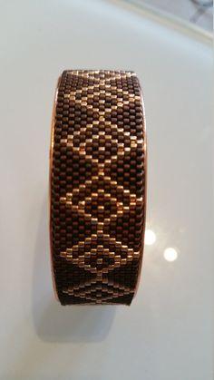 Miyuki peyote bracelet by BosphorousJewellery on Etsy