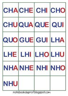 Fichas silábicas para formação de palavras simples.   Esta é a primeira parte. Farei outras postagens com sílabas mais complexas.          ...