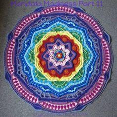 Mandala Madness Archives - Crystals & Crochet Motif Mandala Crochet, Crochet Motifs, Crochet Squares, Crochet Doilies, Crochet Stitches, Crochet Patterns, Mandala Blanket, Afghan Patterns, Blanket Crochet