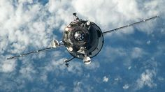 4/30/15 An unpiloted Russian Progress resupply vehicle is shown approaching the International Space Station.
