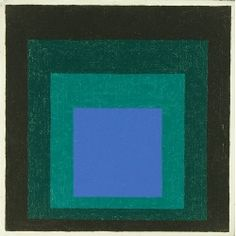 Josef Albers, Blue Call (Study for «Homage to the Square»)