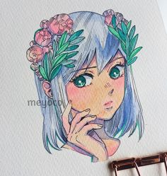 """26.9k Likes, 31 Comments - meyoコ (@meyoco) on Instagram: """" (art tools info: @pearlescentpink)"""""""
