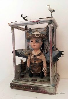 Assemblage: Phone Booth Samurai by *bugatha1 on deviantART