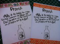 Kaart proost - card cheers