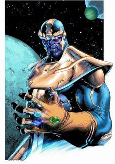 "comic-art-xero  ""Thanos   The Infinity Gauntlet - Jerome Opena - Marvel "" daa4decf6e48e"
