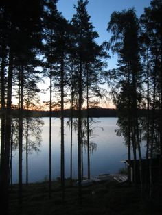 Finnish Midsummer     about midnight in the mid summer in Finland