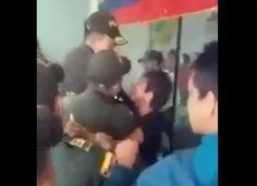 [VIDEO] Hija de excongresista fue detenida por morder a un policía en el SENA Bucaramanga - HSB Noticias