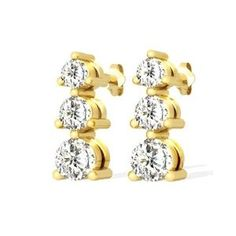 Diamant Ohrringe aus 585er Gelbgold mit 1.00 Karat Diamanten. Diese Diamantohrringe sind für nur 1499.00 Euro bei www.juwelierhausabt.de erhältlich.