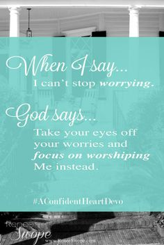 God has ALREADY got it all worked out for your good! :o) My life to a T!!!