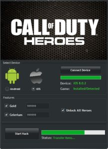 Free cheat Call of Duty Heroes Hack generator tool android ios