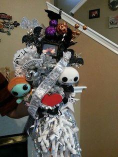 Custom  Nightmare before Christmas Homecoming mum.