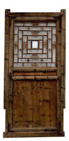 Stunning Carved Antique Door Panel,33'' x 65''H.