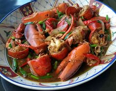 Thibeault's Table: Spicy Lobster in Garlic, Ginger and Black Bean Sauce Asian Lobster Recipe, Lobster Recipes, Fish Recipes, Seafood Recipes, Asian Recipes, Lobster Food, Chinese Recipes, Crab Dishes, Seafood Dishes