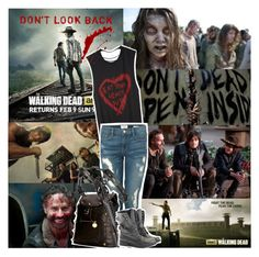 """The Walking Dead"" by chey-love ❤ liked on Polyvore featuring Frame Denim, Deux Lux and Rocio"