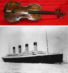 The original violin from the Titanic is going up for auction soon but all of a sudden the authenticity of this violin, reportedly found strapped to Wallace Harley's chest, is being called into question… #titanic