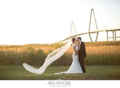 Harborside East Feature | A Lowcountry Wedding » Ava Moore Photography | ravenel bridge | charleston wedding pictures photographer photos