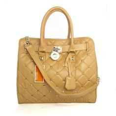 cf241299fd Michael Kors Pyramid Stud Large Beige Totes only