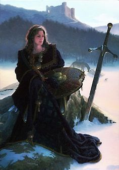 Medieval Celtic goddess Anna awaits on the battlefield in this painting by Dean Morrissey. Fantasy Warrior, 3d Fantasy, Medieval Fantasy, Viking Warrior, Fantasy Characters, Female Characters, Character Inspiration, Character Art, Vikings