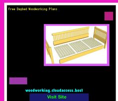 Free Daybed Woodworking Plans 073453 - Woodworking Plans and Projects!