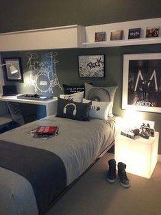 48 Cool Teenage Boy Room Decor Ideas for A Hard-to-please Boy Decoration # Teen Boy Rooms, Girls Bedroom, Baby Rooms, Teen Music Bedroom, Kid Bedrooms, Bedroom Ideas For Teen Boys, Teenage Boy Bedrooms, Cool Bedrooms For Boys, Girl Rooms