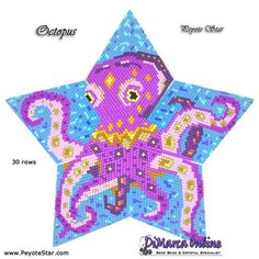3D Peyote Star Beading Pattern CELTIC KNOT HEART with Basic Instructions Tutorial