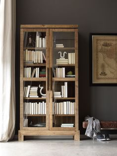 Angora Handcrafted Wood Bookcase Cabinet (http://www.zinhome.com/angora-handcrafted-wood-bookcase-cabinet/)